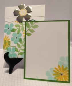 Secret Garden crimp envelop card